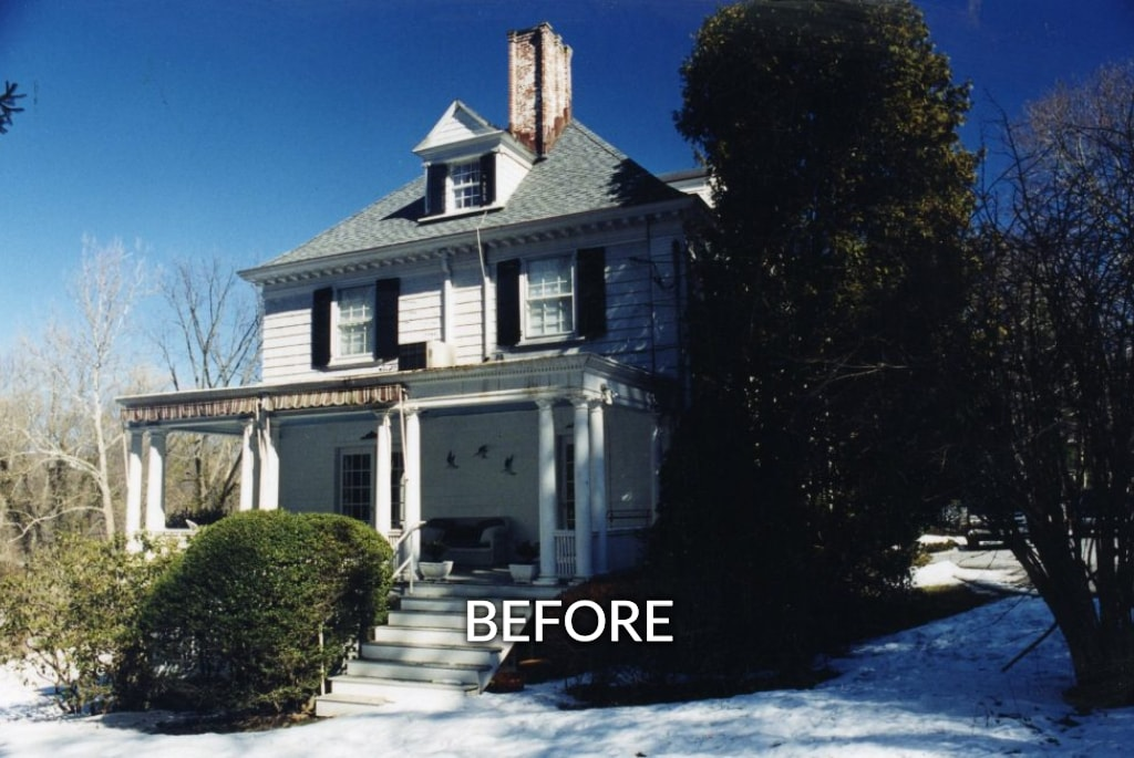 1800s home exterior before addition