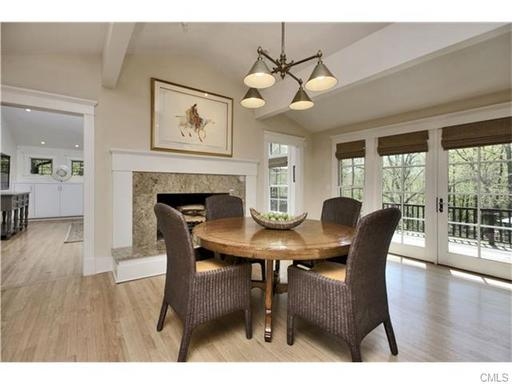 weston ct home dining area