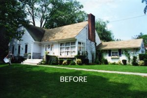 Cape front before remodel in Rye NY