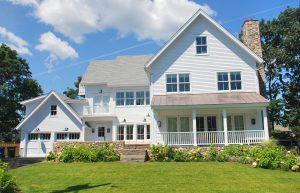 white modern farmhouse exterior