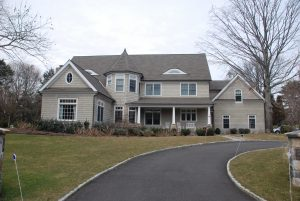 front of westport ct shingle style home