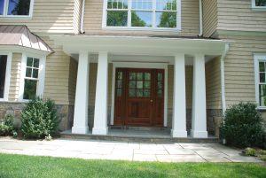 scarsdale ny shingle style house entry