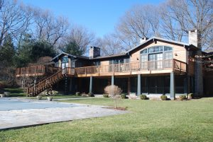 weston ct home with deck