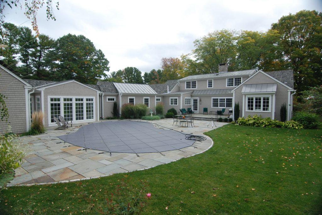 backyard of washington ct home remodel
