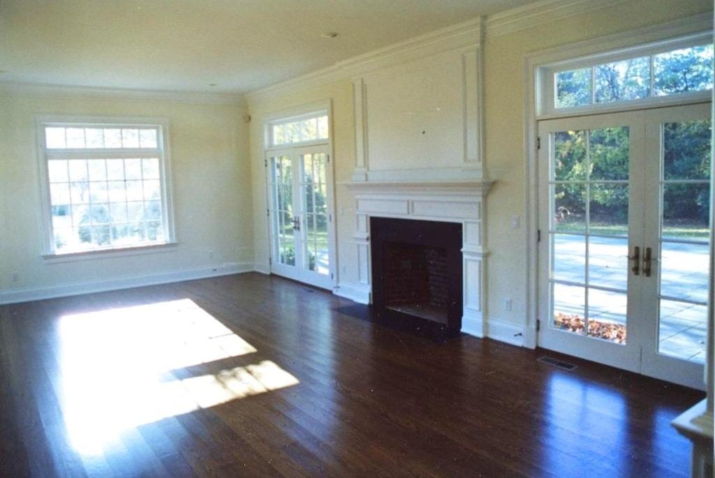 Family room in Westport home
