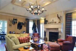 Family room of Rye NY Colonial home