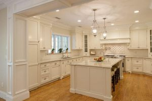 Greenwich CT custom home design with traditional kitchen