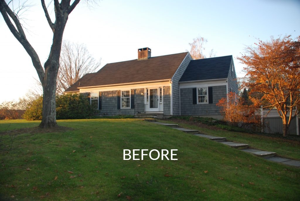 Home before remodel in Washington CT front shown