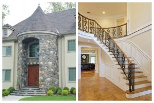 Home design with turret and 2 story foyer in Greenwich CT