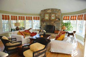 Katonah NY home interior with fireplace