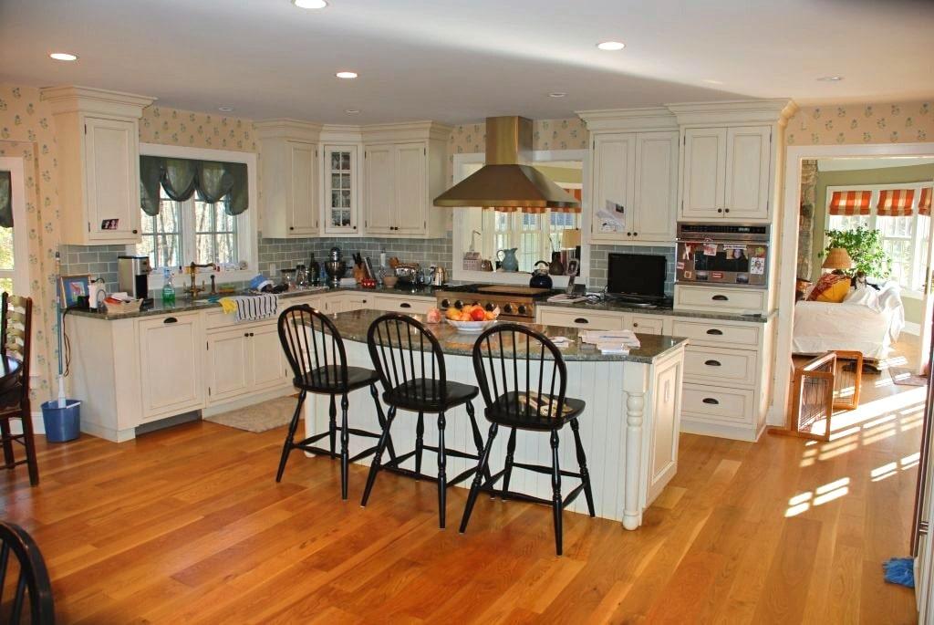 Katonah NY kitchen after remodel by DeMotte Architects