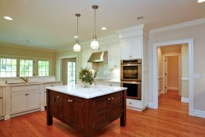 kitchen of shingle style home