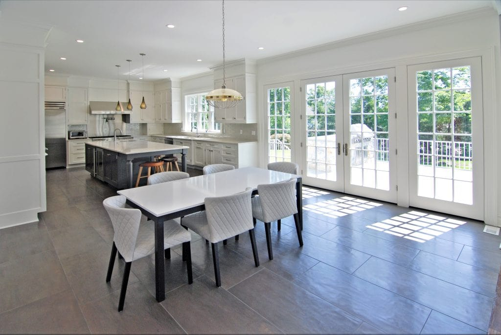 Kitchen in Scarsdale NY custom colonial by DeMotte Architects