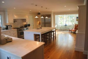 Kitchen in cape home remodel in Washington CT