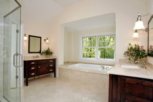 master bath of home by demotte architects