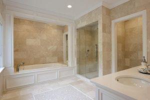 Master bathroom in Greenwich CT custom home