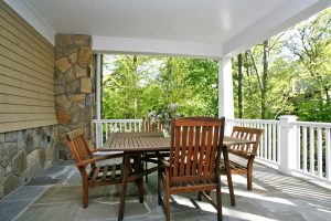 porch of scarsdale ny shingle style home