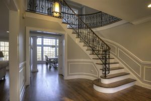 Pound Ridge NY entryway in remodeled home by DeMotte Architects