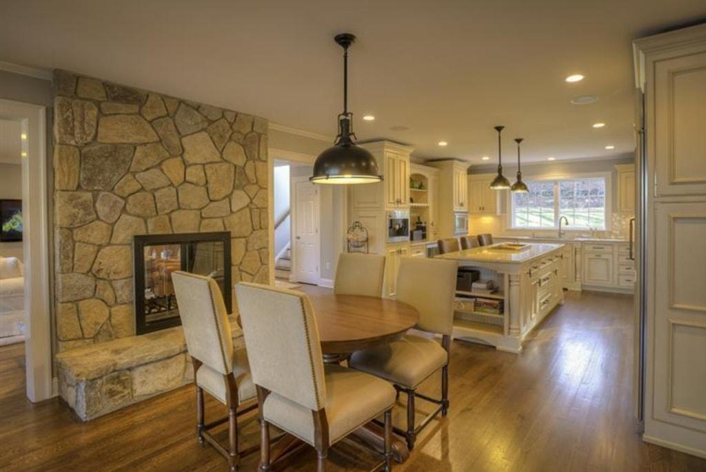 Pound Ridge NY home addition by DeMotte Architects kitchen shown