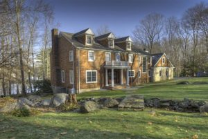 Pound Ridge NY home design by DeMotte Architects remodel shown