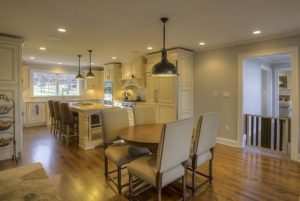 Pound Ridge NY kitchen in remodeled home by DeMotte Architects