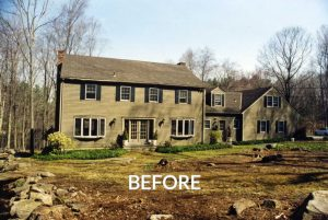 Pound Ridge home before remodel addition