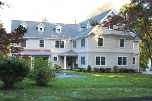 Ranch conversion to shingle style house in Westport CT