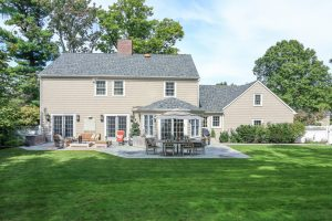 ny colonial remodel rear by demotte architects