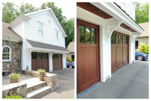 Ridgefield CT colonial home remodel garage by DeMotte Architects
