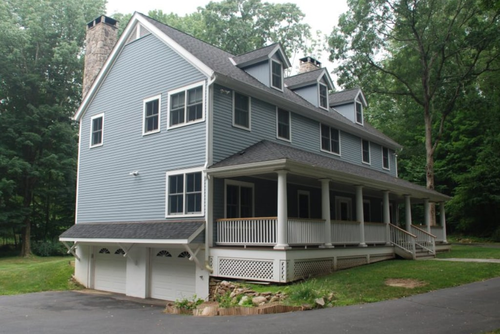 Ridgefield CT home after remodel garage shown