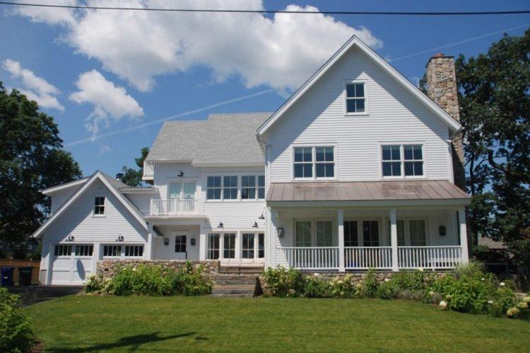 Rowayton CT home design modern farmhouse by DeMotte Architects