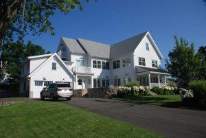 Rowayton Connecticut modern farmhouse with garage