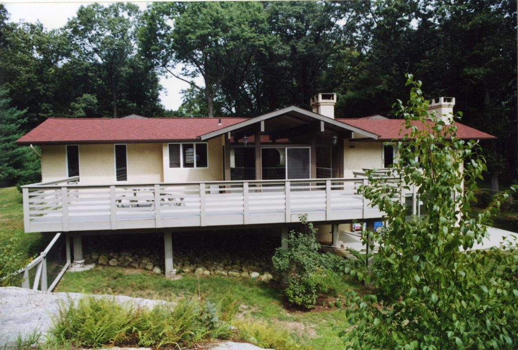 rear elevation before remodel