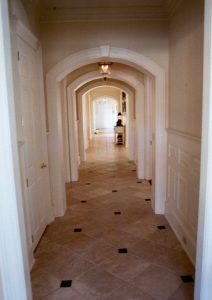 pound ridge ny home hallway by demotte architects