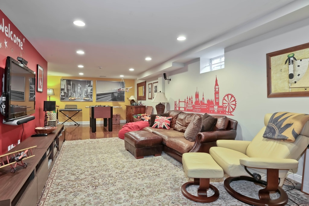 Scarsdale NY basement after home remodel