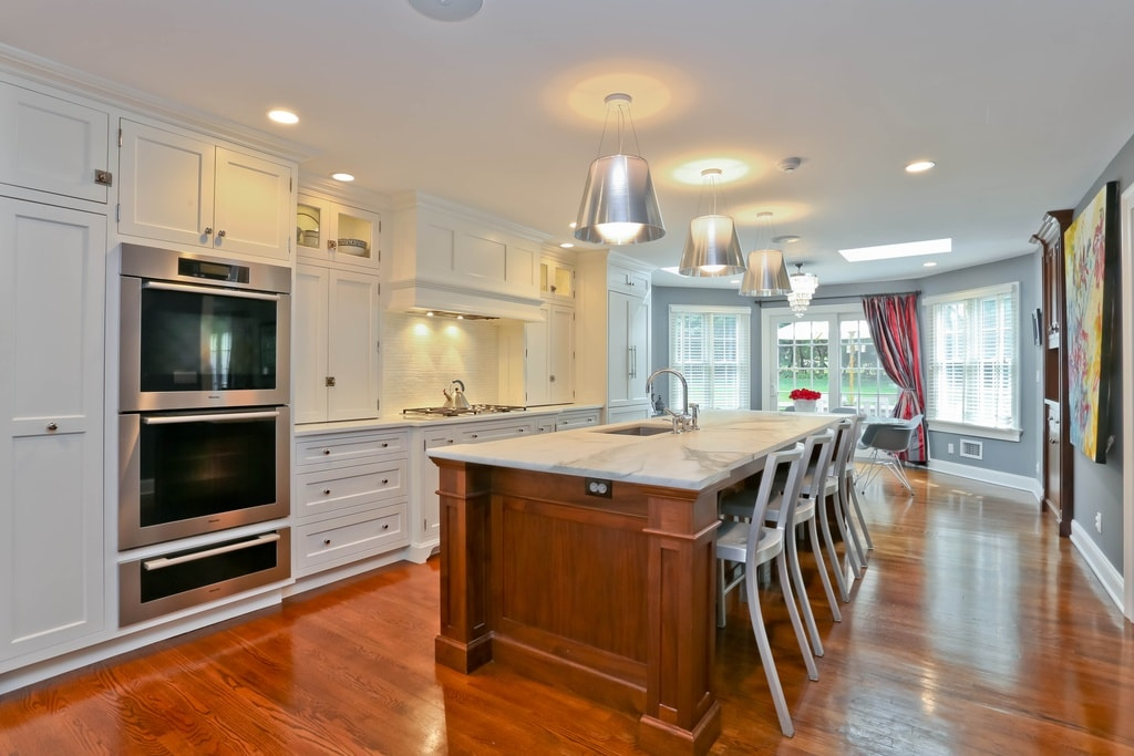 Scarsdale NY kitchen after remodel by DeMotte Architects