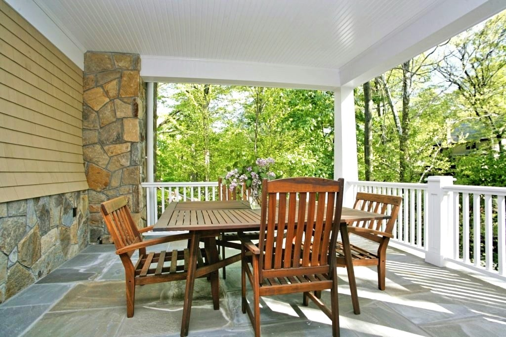 Scarsdale NY porch custom home by DeMotte Architects
