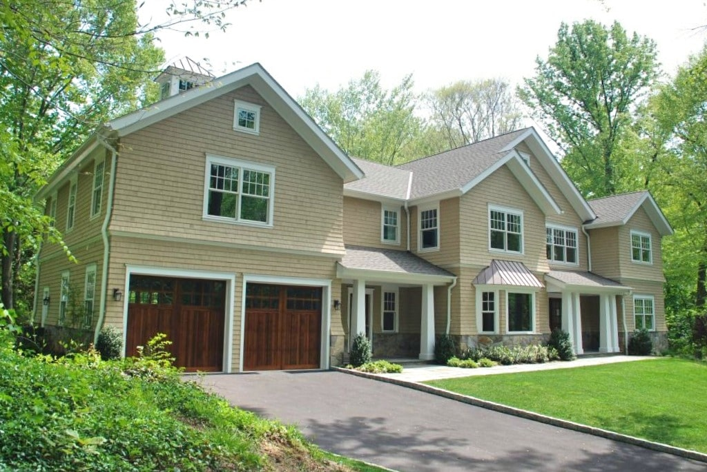 Scarsdale NY shingle home design by DeMotte Architects