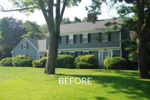 Scarsdale home before remodel front shown