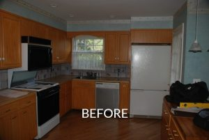 Scarsdale home before remodel kitchen shown