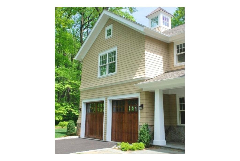 Shingle home garage design