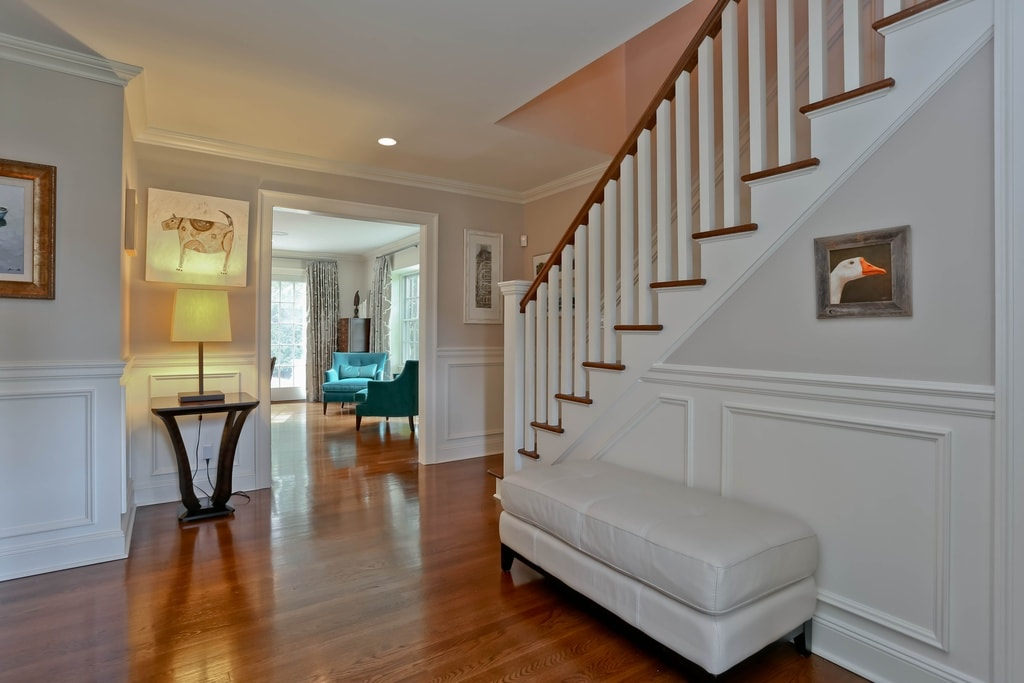 Traditional entryway in Scarsdale NY home remodel