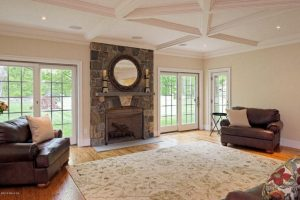 Traditional family room home design in Greenwich CT