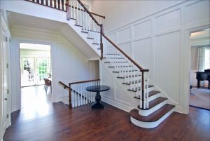 Traditional interior of custom colonial home in Scarsdale NY by DeMotte Architects