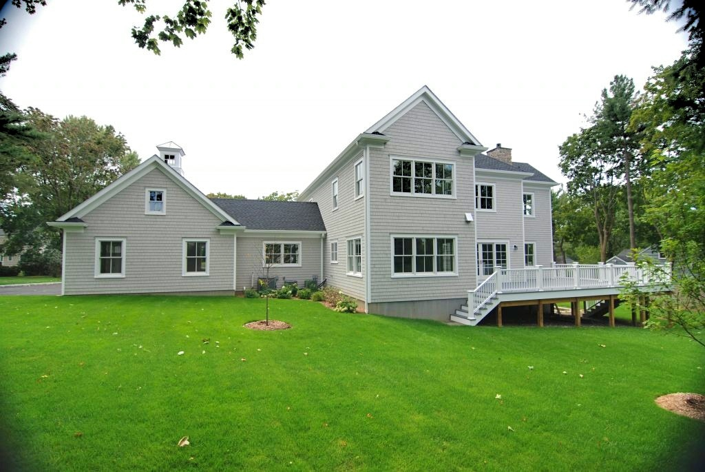 Westchester County NY home design rear shown