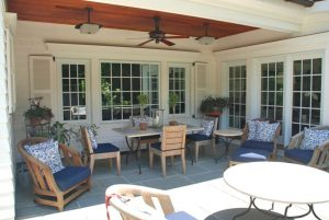 Westchester County NY home remodel by DeMotte Architects outdoor dining space