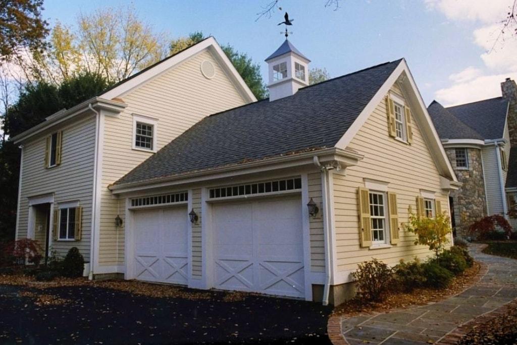Weston CT garage after home addition