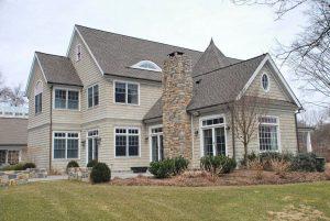 Westport CT custom home design by DeMotte Architects