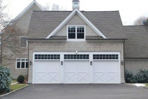 Westport CT home with 3 car garage by DeMotte Architects