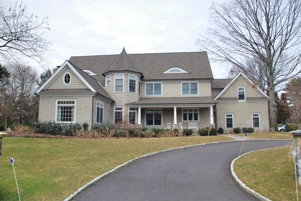 Westport CT shingle style home design by DeMotte Architects